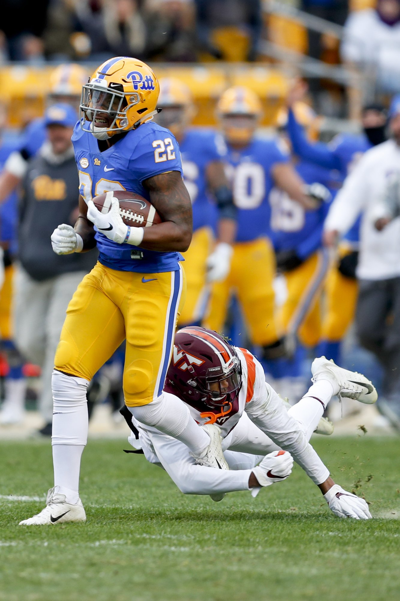 Pitt runs all over Virginia Tech in 52-22 thumping