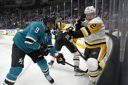 Penguins dealt 6th straight loss with 5-0 drubbing by Sharks