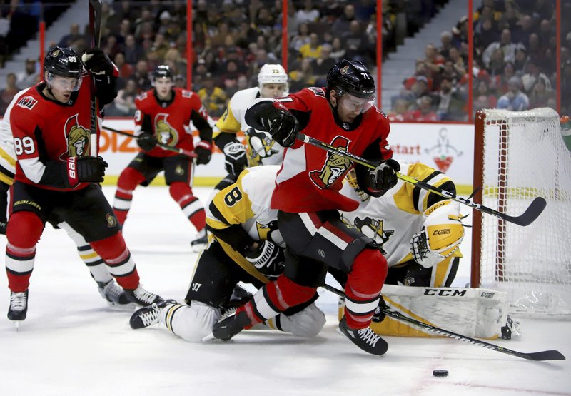 Pens fall to Ottawa in 2-1 shootout