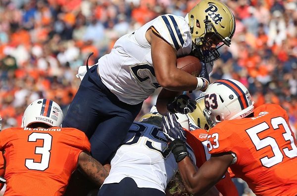 Pitt wins first road game with 45-31 victory at Virginia