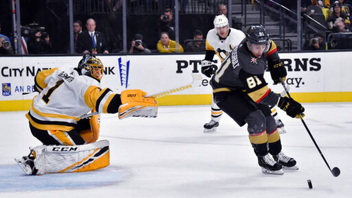 Marchessault's hat trick leads Vegas in 7-3 win over Penguins