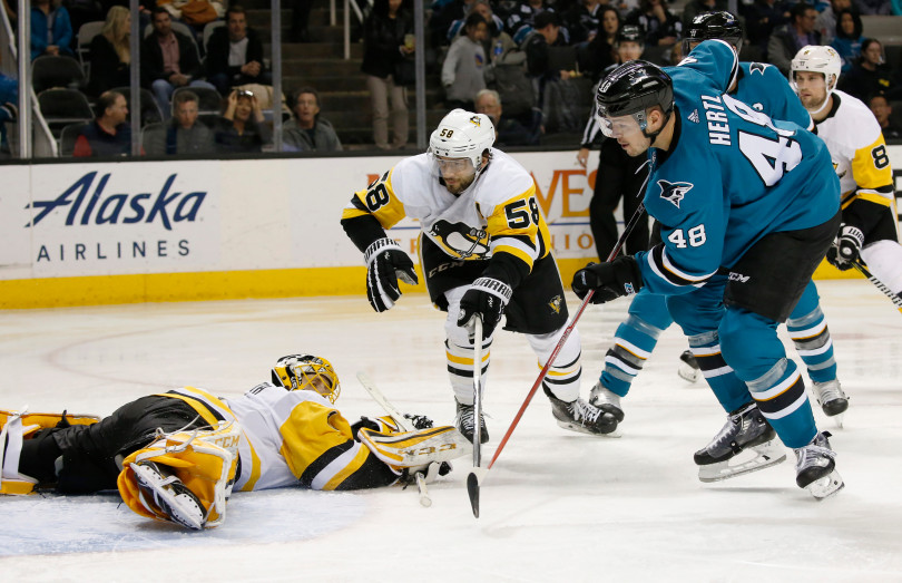 Penguins drop 2-1 decision in San Jose