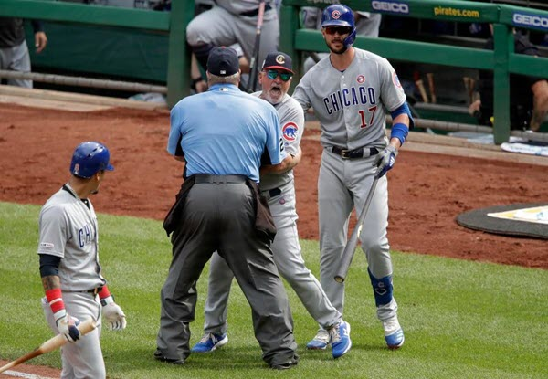 Cubs Erupt After Maddon's Ejected to Rip Pirates 11-3