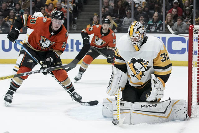 Penguins woes continue with 3-2 loss in Anaheim